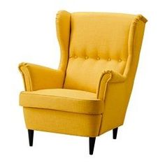 STRANDMON Wing chair - Skiftebo yellow - IKEA   Love this so much! Reminds me of the chair from UP!