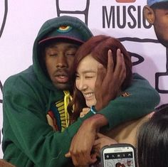 tiffany young and tyler the creator on We Heart It Manado, Tyler The Creator Wallpaper, Jackson, Young T, Flower Boys, Mood Pics, Aesthetic Pictures, Pretty People, Music Artists