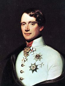Gustav, Prince of Vasa  (1799 - 1877). Son of Gustav IV and Frederica of Baden. He married Louise Amelie of Baden and had two children.