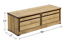 Outlast Storage Bench Dimensions