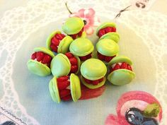 Miniature Food  Macaron  20pcs Mix Colors 18mm For by SweetieTiny, $7.99