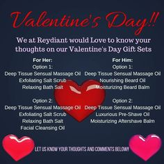 We'd love to hear from you! by reydiant_natural_products Gift Sets For Her, Relaxing Bath, Beard Balm, Deep Tissue, Massage Oil, Natural Products, Bath Salts, Natural Skin Care, Valentine Day Gifts
