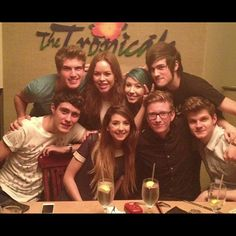 Joey Graceffa, Tanya Burr, Kalel, Anthony, Alfie Deyes, Zoe Sugg, Tyler Oakley, and Jim Chapman