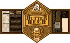 Butterbeer Label on Behance
