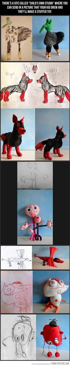 website that turns kids drawings into real life toys :')