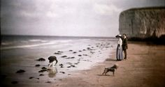 John Cimon Warburg - Margate Beach (Blue Girl), c. 1908 Autochrome