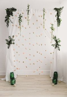 Peach floral backdrop