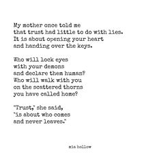Trust- Mia Hollow