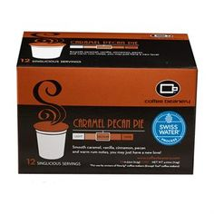 Caramel Pecan Pie SWP Decaf Singlicious® Servings  Buttery and nutty with sweet, creamy caramel, our Caramel Pecan Pie flavored coffee is a decadent treat for your taste buds.   Our best selling flavored coffee is now available in single servings for owners of Keurig® machines.   12-Singlicious® Servings come in each box.  We care about giving you the best product so all of our Decaf Coffee is decaffeinated using the Swiss Water Process. This Process is the only 100% chemical free…