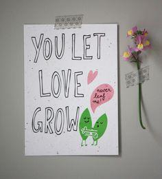Plantbare kaart YOU LET LOVE GROW - NikoNiko