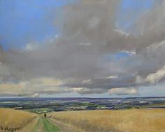 Malcolm Ludvigsen: SOLD by Artfinder.com and off to a new home in Hampshire.  It's a view of the North York Moors from above Castle Howard.  30x24'' oil on canvas.  More on www.malcolmludvigsen.org.uk/Land30x24.htm