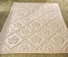 Crochet Unicorn Blanket Pattern/Unicorn Crochet Throw/Pegasus Blanket Pattern for Girls/Filet Crochet Pattern/Pink Ruffle Lapghan Bobble Stitch Crochet, Filet Crochet, Crochet Unicorn Blanket, Crochet Baby, Crochet Butterfly, Butterfly Pattern, Afghan Crochet Patterns, Knitting Patterns, Crochet Bedspread