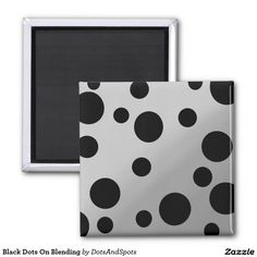 Black Dots On Blending 2 Inch Square Magnet