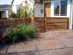 possible idea for low fence for front yard