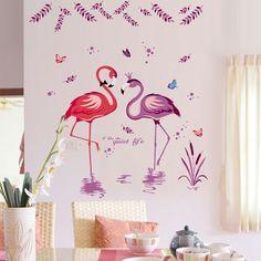 Flamingók tava falmatrica #flamingó #gyerekszobafalmatrica #falmatrica #gyerekszobadekoráció #gyerekszoba #matrica #faldekoráció #dekoráció Lany, Wall Sticker, Pink Purple, Stickers, Painting, Home Decor, Products, Decoration Home, Room Decor