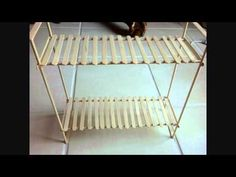 Easy to make double bunk Barbie size beds.