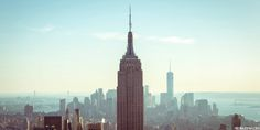 Solid-Faced Canvas Print Wall Art Print entitled New York State, New York City, View of Empire State Building in Manhattan Revolver, Woolworth Building, Skyline Painting, Meet Friends, Chicago Area, Emmanuelle Alt, Relaxing Day, Best Places To Eat, Rachel Zoe