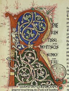 Gregorii Moralia in Iob Jh. Medieval Books, Medieval Manuscript, Medieval Art, Abc Font, Font Alphabet, Graffiti Alphabet, Illuminated Letters, Illuminated Manuscript, Stippling Art
