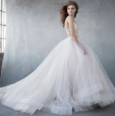 Lazaro Bridal Dresses Style 3600 by JLM Couture, Inc. available at Chic Parisien, a bridal boutique based in Coral Gables FL. Lazaro Wedding Dress, Lazaro Bridal, 2016 Wedding Dresses, Bridal Gowns, Wedding Gowns, Dresses 2016, Tulle Wedding, Dresses Uk, Spring Wedding