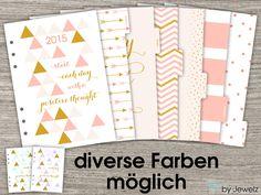 6 Divider + Dashboard A5 div. Farben Filofax von by Jewelz auf DaWanda.com