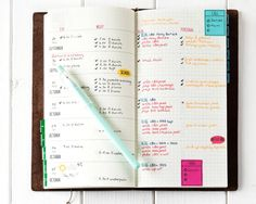 Planner: Stay Focused Stamp Set - shared by Debby Hughs with her Traveler's Notebook.