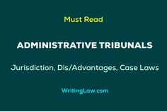 Administrative Tribunals - Jurisdiction, Dis/Advantages, and Case Laws Court Procedures, Law Notes, Administrative Law, Judicial Review, Superior Court, District Court, Constitution, Bill Of Rights