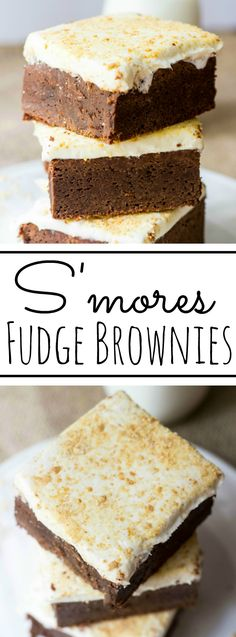 S'mores Fudge Brownies are thick, delicious marshmallowy goodness in every bite!