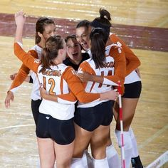 UT volleyball team. #longhorn #sports    www.hornsillustrated.com