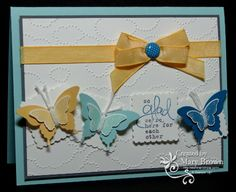 2013 SAB - Bloomin' Marvelous stamp set; 2013 Spring Catalog - BItty Butterfly Punch, Cloud Day TIEF: Postage Stamp Punch