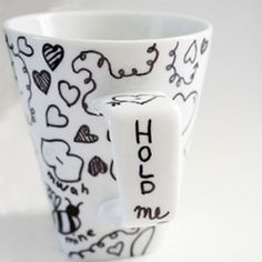 Tea themed Valentine ideas PLUS doodle on ceramic and never worry about it washing away! Put down the Sharpie & do it the right way!