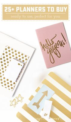 25 great planners to buy on Amazon! Find exactly what suits you for the new year! | saynotsweetanne.com