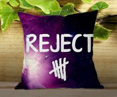 "5 seconds of summer rejects - for Pillow cover 16"" x 16"" {twoside} 