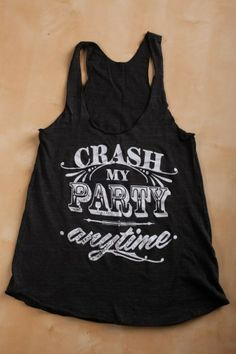 Crash My Party Anytime Tank Top on BourbonandBoots.com
