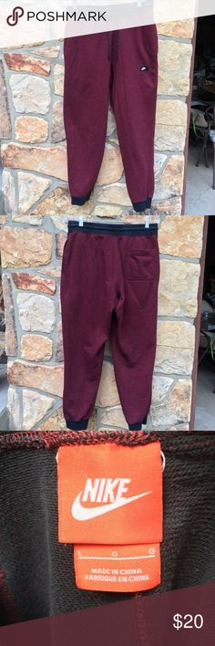 Men's Nike French Terry Shoebox Cuffed Sweatpants Men's Nike AW77 French Terry Shoebox Cuffed Sweatpants Great Condition  Men's Size Large (L) Nike Pants Sweatpants & Joggers