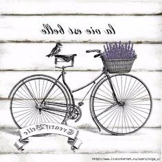 French Vintage Bicycle Large Instant Digital by CreatifBelle Decoupage Vintage, Vintage Diy, Velo Vintage, Images Vintage, Vintage Bicycles, Vintage Labels, Vintage Signs, French Vintage, Vintage Clocks