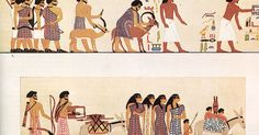 An earlier group of Asiatic peoples depicted entering Egypt c. 1900 BC, from the tomb of a Twelfth Dynasty official Khnumhotep II under pharaoh Senusret II at Beni Hasan. Ancient Egypt History, Jewish History, African History, Egyptian Art, Native American Indians, Egyptians, Ancient Civilizations, Bronze Age, Closer