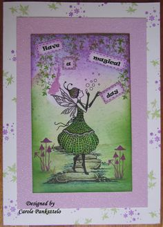 Whimsical Fairy greeting card  Have a Magical by CraftyMrsPanky