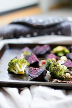 Garlic roasted broccoli and beets | Hello to Fit