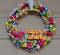 DIY Summer Ribbon Wreath | #ScrapbookSteals Pinspiration Giveaway!