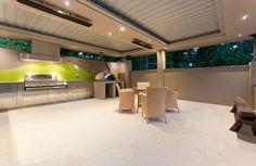 Residential Vergola; Outdoor Kitchen