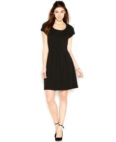 Short black a line dress