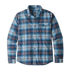 The Patagonia Men's Long-Sleeved Lightweight Fjord Flannel Shirt is a lighter-weight version of our classic Fjord Flannel made with organic cotton. Mens Flannel, Flannel Shirts, Flannels, Picnic Outfits, Fashion Night, Book Gifts, Fashion Images, Outdoor Outfit, Check Shirt