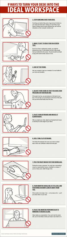 9 Ways To Turn Your Desk Into The Ideal Workspace  Read more: http://www.businessinsider.com/9-ways-to-turn-your-desk-into-the-ideal-workspace-2014-4#ixzz2yxQdd2aW