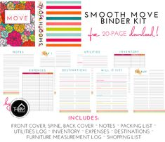 FREEBIE: Smooth Move Binder Kit