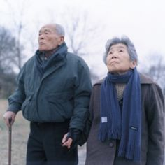 Kawauchi spend her early career photographing family members. Here is a simple shot of a serene elderly Japanese couple, probably related to her. Rinko Kawauchi, Japanese Couple, Easy Shots, Senior Pictures, Senior Pics, Simple Outfits, Family Photographer, Canada Goose Jackets, My Eyes