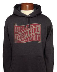 Farm Girl Wave Label Adult Pull-Over Hoodie Country Shirts, Country Outfits, Pretty Outfits, Cute Outfits, Cowgirl Style, Cowgirl Outfits, Farm Clothes, Country Girl Style, Farmer's Daughter