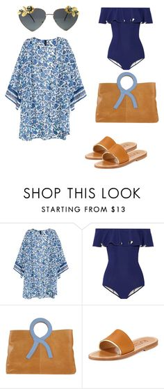 """Beach Day"" by shanicegriffith ❤ liked on Polyvore featuring H&M, Lisa Marie Fernandez, Roberta Di Camerino and K. Jacques"