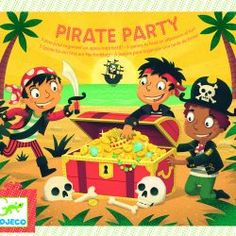 Djeco - Pirate Party Pack - Toys and Games Ireland Drawing Games, Pirate Theme, Party Activities, Party Packs, Stevia, Birthday Party Themes, Puzzles, Toys, Funny