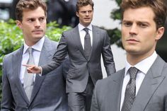 Jamie Dornan smoulders in a suit as he joins Dakota Johnson back on Fifty Shades of Grey set - 3am & Mirror Online