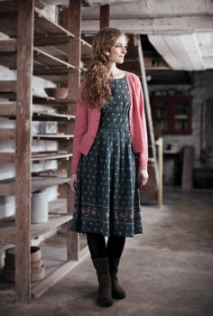 Beautiful & Practical Clothing For Women - Seasalt Cornwall - Thalia Dress Modest Dresses, Modest Outfits, Fall Dresses, Modest Fashion, Cute Dresses, Sweater Dresses, Mode Style, Style Me, Pretty Outfits